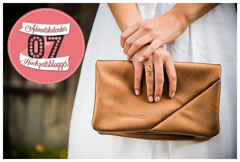 Moderne Braut-Tasche aus Bio-Leder von Franziska Klee | Verrueckt nach Hochzeit