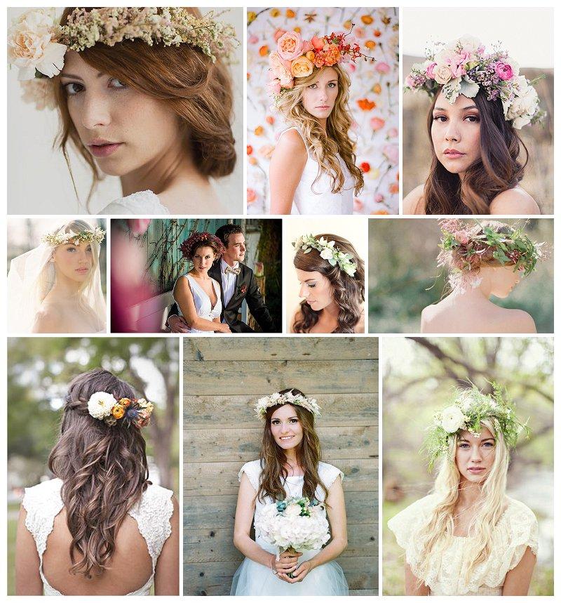 Trend 2014: Blütenkronen für die Braut // Verrueckt nach Hochzeit
