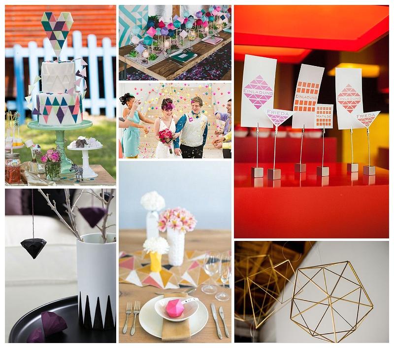 Hochzeits-Trends 2014 auf Verrückt nach Hochzeit: Geometrische Formen