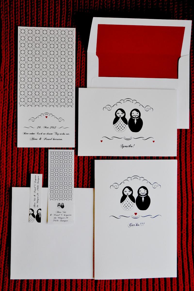 Carte Royale Einladung zur Hochzeit mit Matrjoschkas | Verrueckt nach Hochzeit