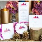 Pink Winter – moderne Hochzeitsinspiration aus den Bergen