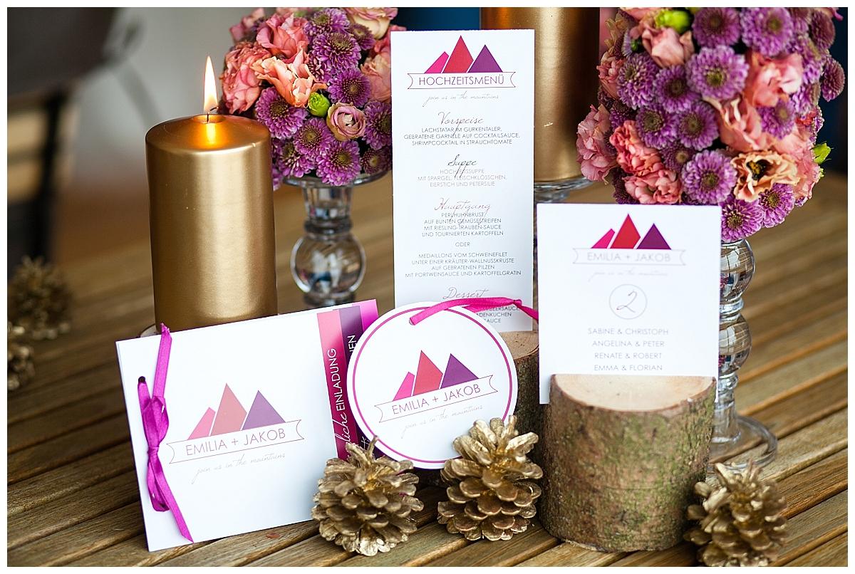 moderne Winterhochzeit in pink | Verrueckt nach Hochzeit