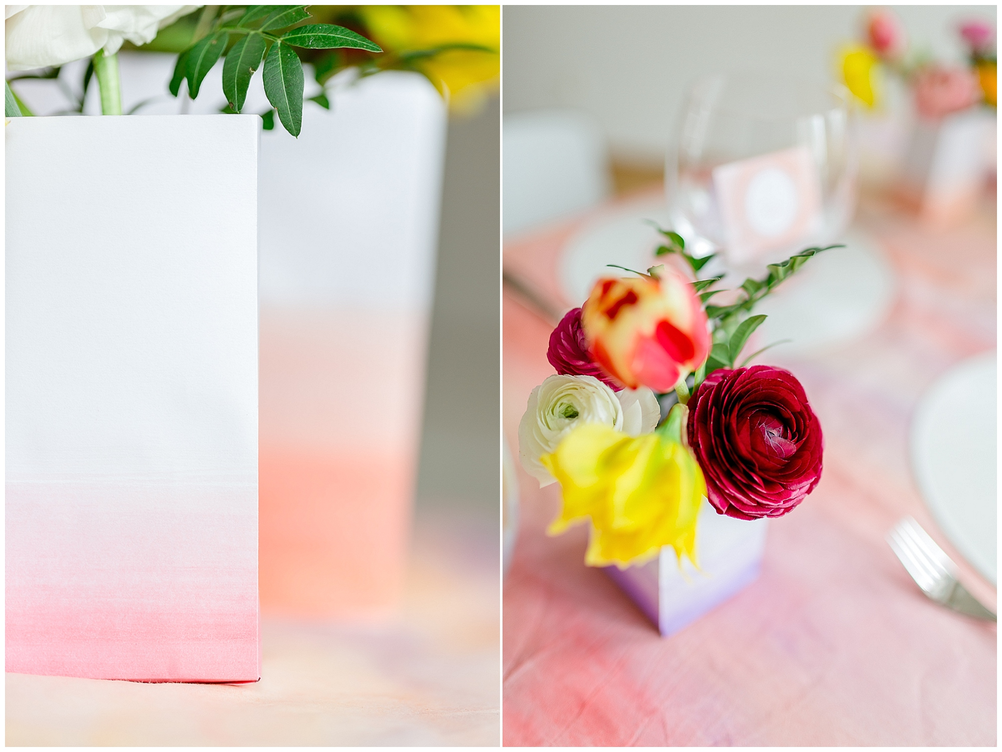 Tischdeko und Aquarell Papeterie für Fruehlingshochzeiten von weddingeve | Foto: Susanne Wysocki | Verrueckt nach Hochzeit