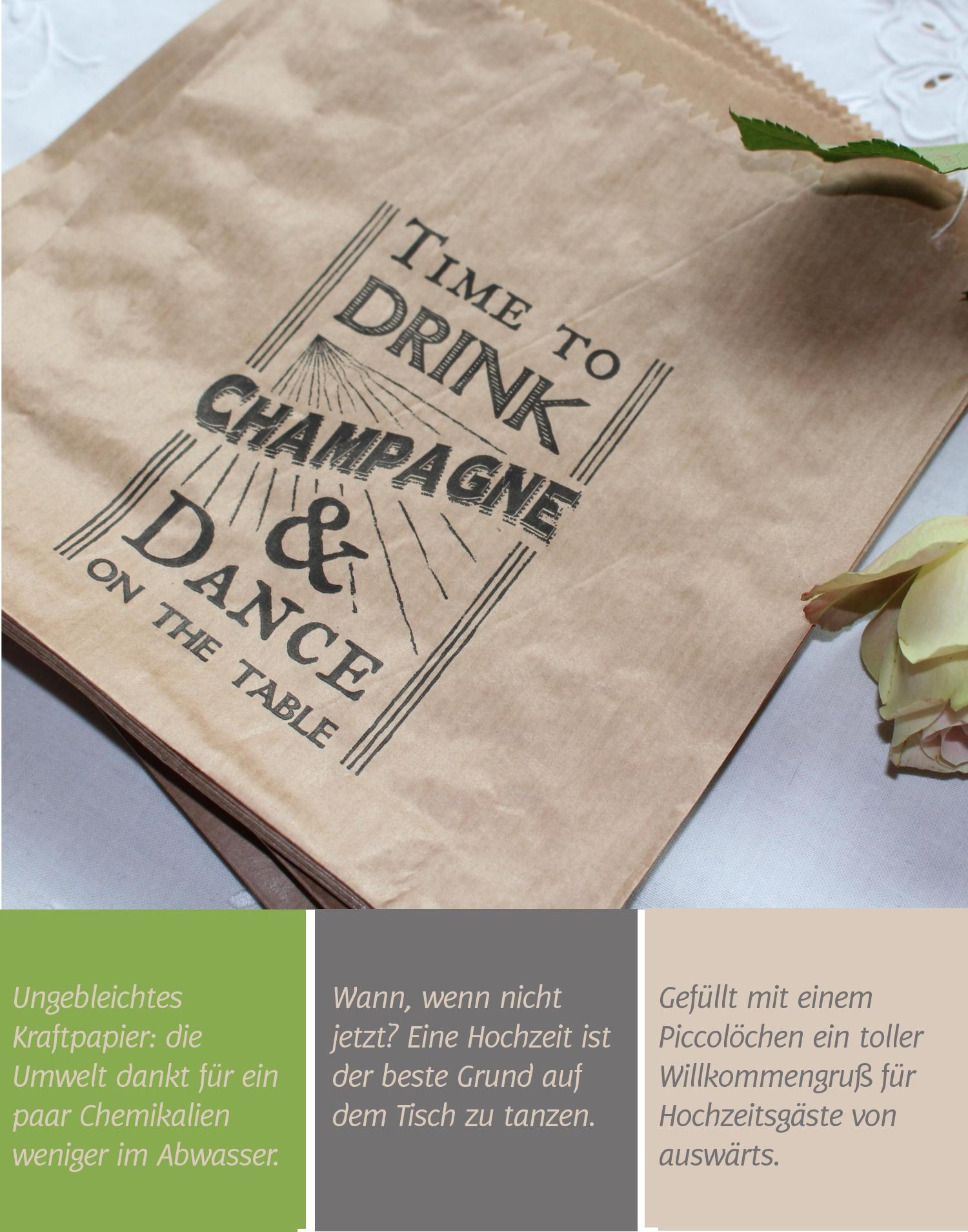 Kraftpapiertüten von achwieschön |Verrueckt nach Hochzeit