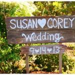 Susan & Corey: eine rustikale Gartenhochzeit am Meer