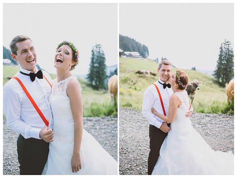 Hochzeitsfotos im Allgäu mit Kuh | Verrückt nach Hoochzeit | Foto: http://nice4youreyes.de/