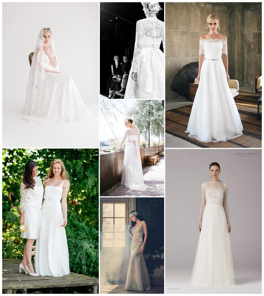 Brautmode-Trend 2015: Hochzeitskleider mit Spitze