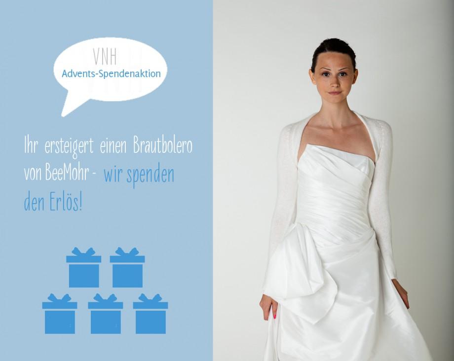 Advents-Spendenprojekt von BeeMohr: ersteigert einen Brautbolero von Bee Mohr