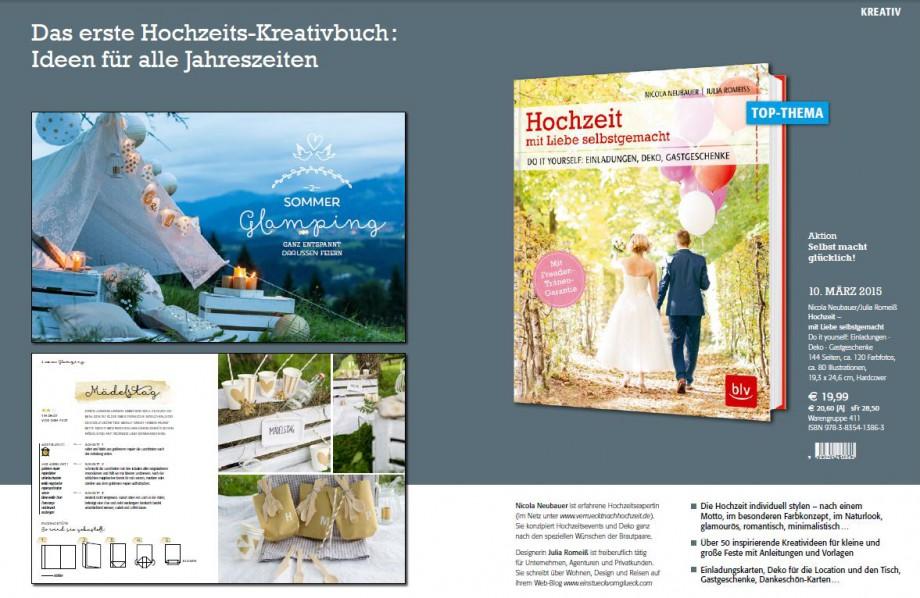 BLV-Verlagsvorschau: Hochzeit - mit Liebe selbstgemacht