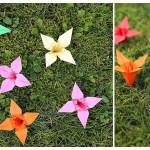 Der Countdown geht zu Ende: Faltanleitung für Origami-Blüten