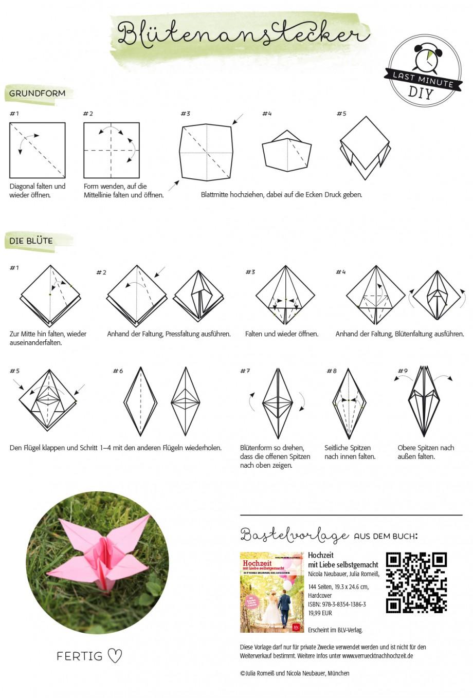 Hochzeit mit Liebe selbstgemacht | Origami-Blüte DIY Anleitung | Nicola  Neubauer, Julia Romeiß