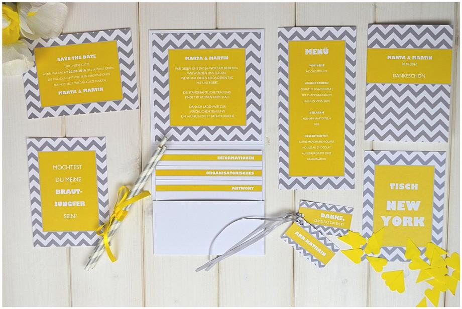 Einladungen und Papeterie für eure Sommerhochzeit von Weddingrepublic + Wimpelkette zum Ausdrucken | Verrueckt nach Hochzeit
