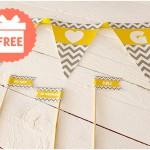 Freebie für eure Sommerhochzeit: Wimpelkette von Wedding Republic