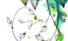 """Anleitung für Hochzeitseinladung """"Greenery meets Watercolor"""""""